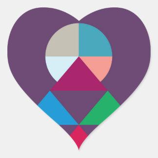 Pirámide Pegatina En Forma De Corazón