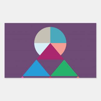 Pirámide Pegatina Rectangular