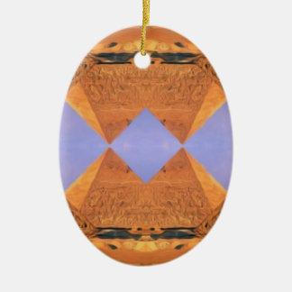 Pirámides psicodélicas adorno de cerámica