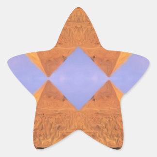 Pirámides psicodélicas pegatina en forma de estrella