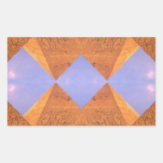 Pirámides psicodélicas pegatina rectangular