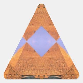 Pirámides psicodélicas pegatina triangular