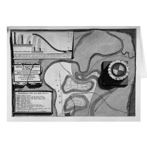 Piranesi-Placa de Juan de la topografía de Roma Felicitación
