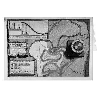 Piranesi-Placa de Juan de la topografía de Roma Tarjeta De Felicitación