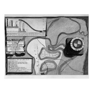 Piranesi-Placa de Juan de la topografía de Roma Postales