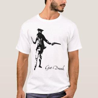 Pirata borracho camiseta