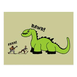 Pirata contra dinosaurio postal
