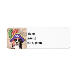Pirata de Berner Etiqueta De Remite