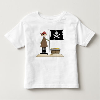 Pirata de la diversión de la fantasía con la camiseta de bebé