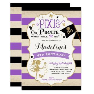Pirata de la hada de la invitación del cumpleaños