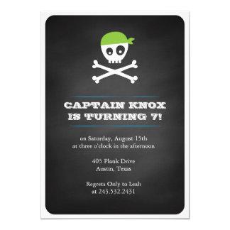 Pirata de la pizarra invitación 12,7 x 17,8 cm