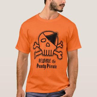 Pirata de las bragas camiseta