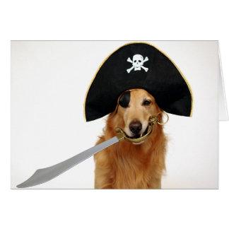 Pirata de oro tarjeta de felicitación