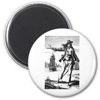 pirata de sexo femenino imanes de nevera