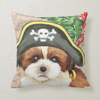 Pirata de Shih Tzu Cojín Decorativo