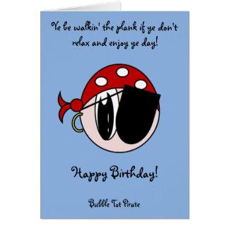 Pirata del bebé de la burbuja tarjeta de felicitación