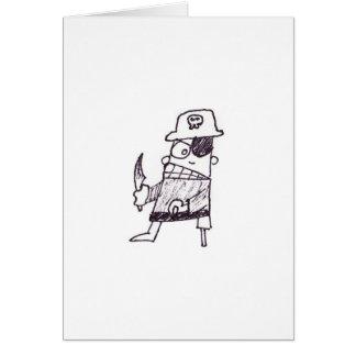Pirata del cumpleaños tarjeta de felicitación