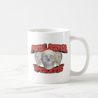 Pirata del servicio postal taza de café