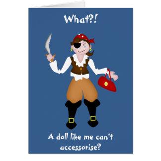 Pirata delincuente de la muñeca tarjeta de felicitación