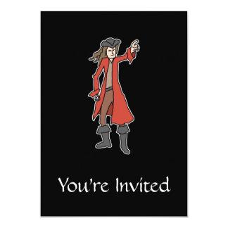 Pirata Invitación 12,7 X 17,8 Cm