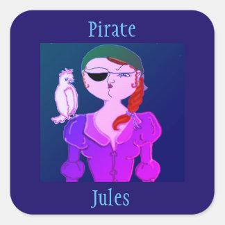 Pirata Julio el pegatina del pirata de Eco