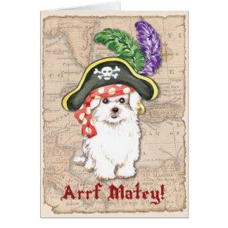 Pirata maltés tarjeta de felicitación