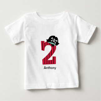 Pirata número 2 camiseta de bebé