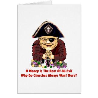 Pirata religioso tarjeta
