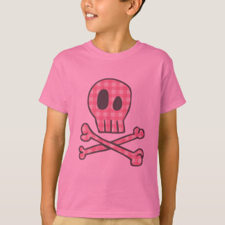 Pirata rosado de la guinga camiseta