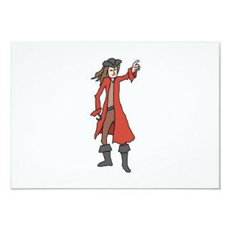 Pirata, señalando en la distancia invitación 8,9 x 12,7 cm