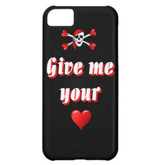 Pirata y corazones funda para iPhone 5C