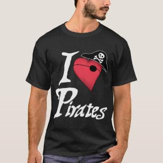 Piratas del corazón - oscuridad camiseta