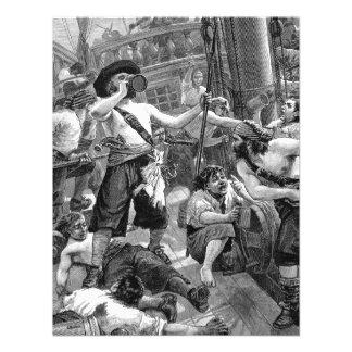 Piratas del vintage que beben y que luchan en la n comunicados