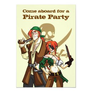 Piratas Invitación 12,7 X 17,8 Cm