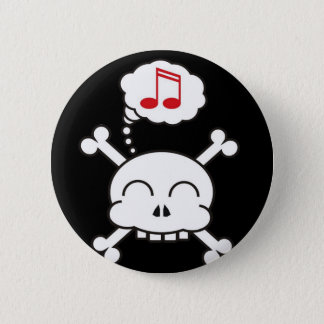 piratas R felices Chapa Redonda De 5 Cm