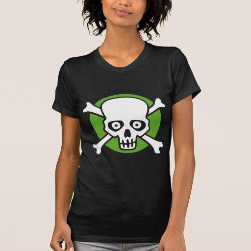 pirate bones style skull and comic fun camisetas
