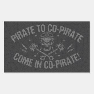 Piratee al Co-Pirata II Pegatina Rectangular