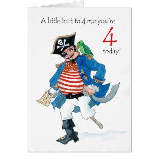 Piratee la 4ta tarjeta de cumpleaños
