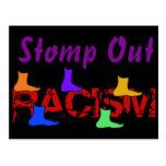 Pisa fuerte hacia fuera el racismo tarjetas postales