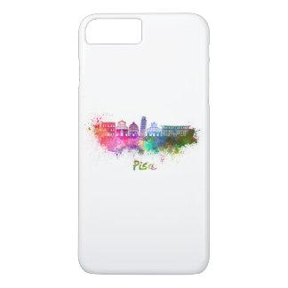 Pisa skyline in watercolor funda para iPhone 8 plus/7 plus