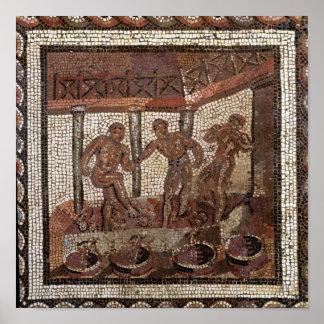 Pisando las uvas, de Santo-Romano-en-Galón Póster