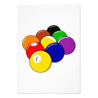 Piscina de 9 bolas anuncio personalizado