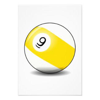Piscina de 9 bolas comunicado personalizado