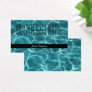 Piscina de la aguamarina tarjeta de negocios