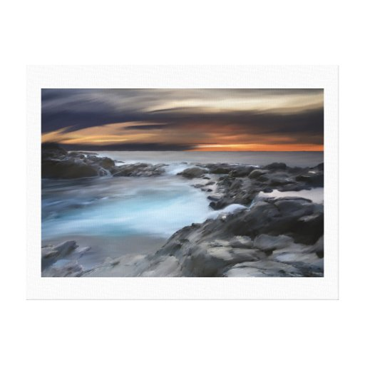 """""""Piscina de la marea"""" por Jamie Scott Wilson Impresiones En Lienzo Estiradas"""