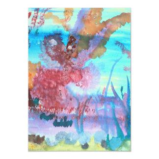 Piscina de la roca invitación 12,7 x 17,8 cm