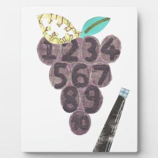 Piscina de la uva en un caballete placa expositora