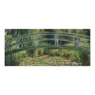 Piscina japonesa del lirio de la pasarela y de invitación 10,1 x 23,5 cm