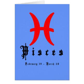 Piscis 19 de febrero - 20 de marzo tarjeta de felicitación
