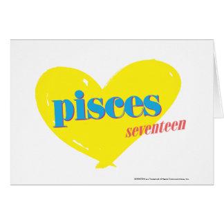 Piscis 3 tarjeta de felicitación
